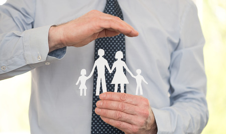 Insurer protecting a family, concept of insured family