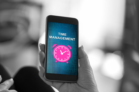 Smartphone screen displaying a time management concept