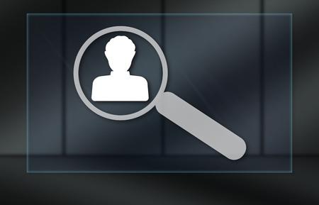 Job search concept on dark background Reklamní fotografie - 120096726