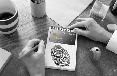 Payment security concept drawn on a notepad