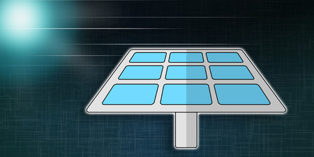 Illustration of an eco energy concept Reklamní fotografie