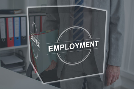 Employment concept illustrated by a picture on background