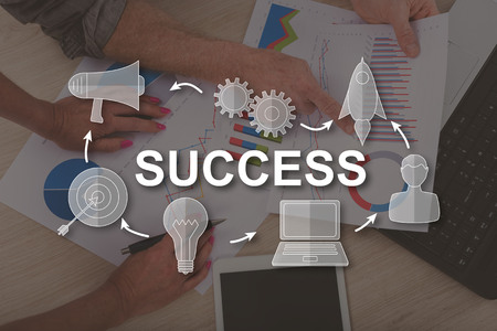 Success concept illustrated by a picture on background Stok Fotoğraf