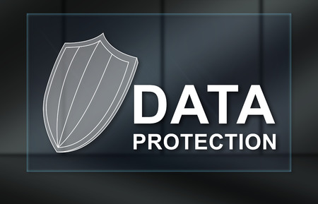Data protection concept on dark background
