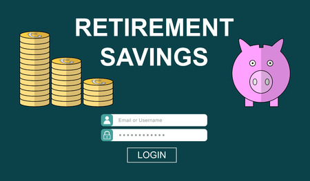 Illustration of a retirement savings concept Imagens