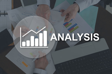 Business analysis concept illustrated by a picture on background