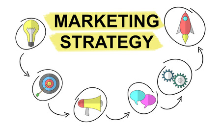 Illustration of a marketing strategy concept