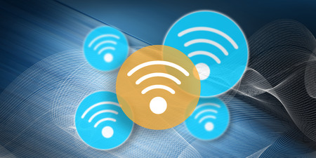 Illustration of a wifi concept Stockfoto