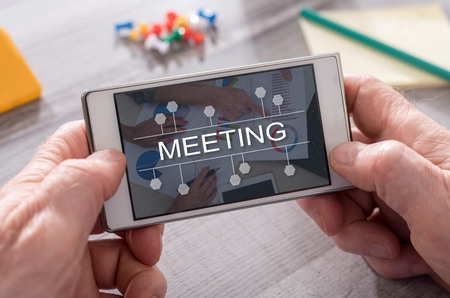 Meeting concept on mobile phone