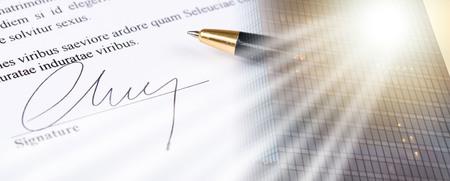 Closeup of signature; multiple exposure