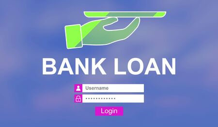 Illustration of a bank loan concept Stock Photo