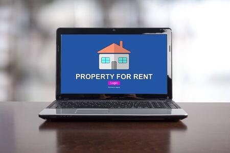 Property for rent concept on a laptop screen Stock Photo