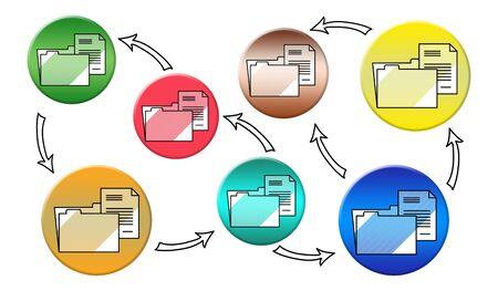 Illustration of a data transfer concept