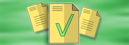 Illustration of a document validation concept Reklamní fotografie