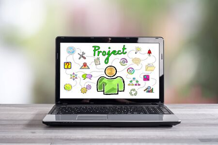 Project concept shown on a laptop screen