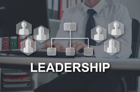 Leadership concept illustrated by a picture on background Stockfoto