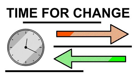 Illustration of a time for change concept
