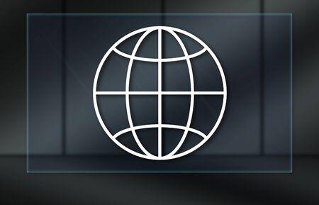 Global business concept on dark background Reklamní fotografie