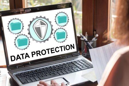 Laptop screen showing data protection concept Reklamní fotografie