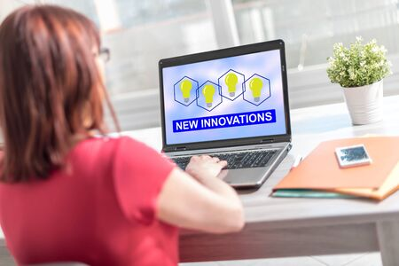 Laptop screen displaying a new innovations concept