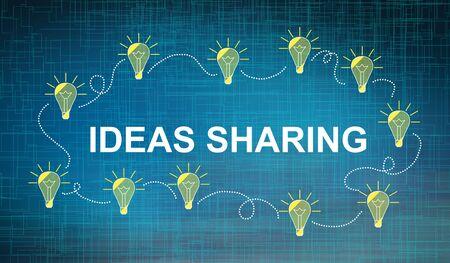 Illustration of an ideas sharing concept Reklamní fotografie