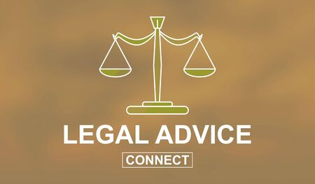 Illustration of a legal advice concept