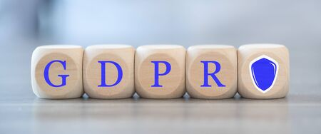 Concept of gdpr on wooden blocks