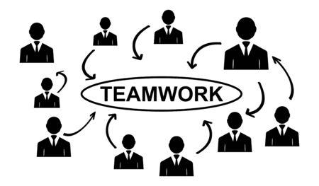 Illustration of a teamwork concept Reklamní fotografie
