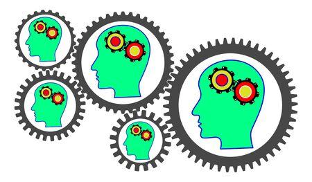 Illustration of a brainstorming concept