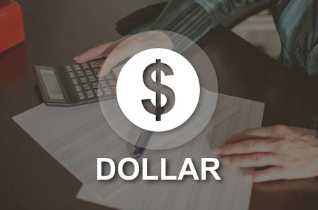 Dollar concept illustrated by a picture on background