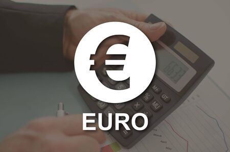 Euro concept illustrated by a picture on background