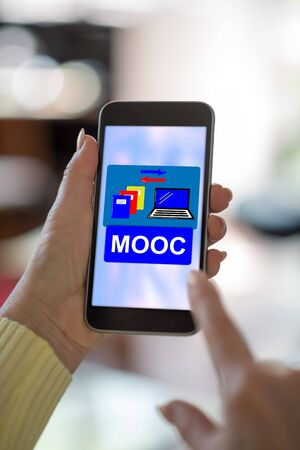 Smartphone screen displaying a mooc concept