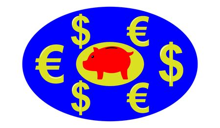 Illustration of a saving money concept