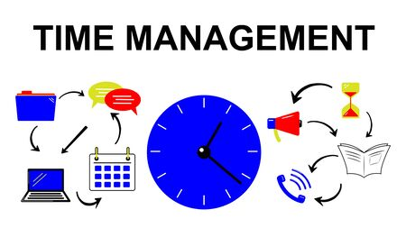 Illustration of a time management concept