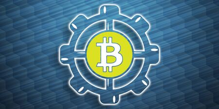 Illustration of a bitcoin development concept Stockfoto