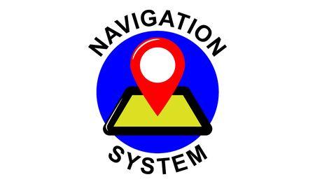 Illustration of a navigation system concept 写真素材