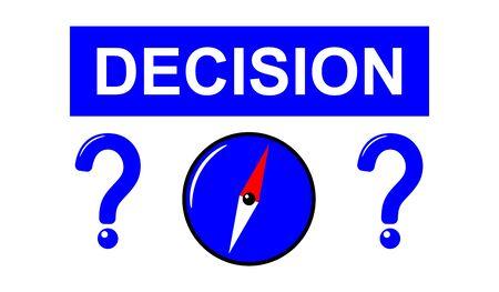 Illustration of a decision concept