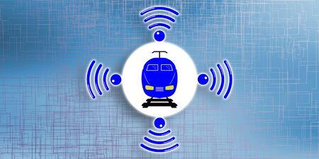 Illustration of a smart train concept Stock fotó