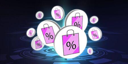 Illustration of a sale concept