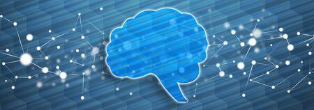 Illustration of a human mind concept