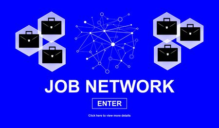 Illustration of a job network concept