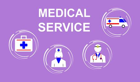 Illustration of a medical service concept