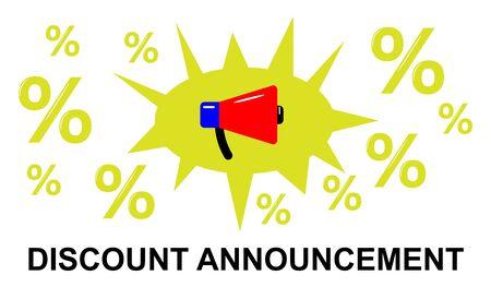 Illustration of a discount announcement concept Фото со стока - 130051977