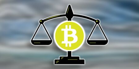 Illustration of a bitcoin regulation concept