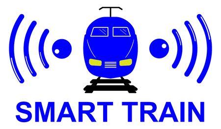 Illustration of a smart train concept Фото со стока