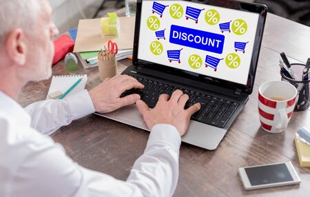 Discount concept shown on a laptop screen