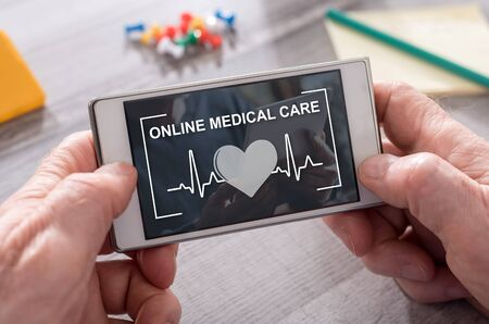 Online medical care concept on mobile phone Stock fotó