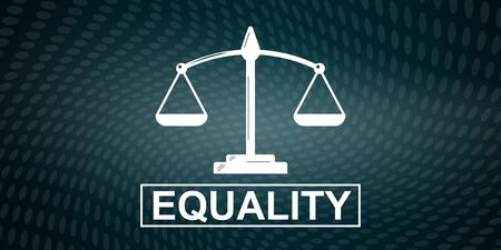 Illustration of an equality concept Stockfoto