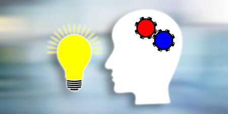 Illustration of a creative idea concept