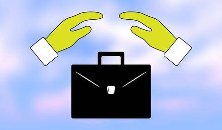 Illustration of a job loss insurance concept Zdjęcie Seryjne